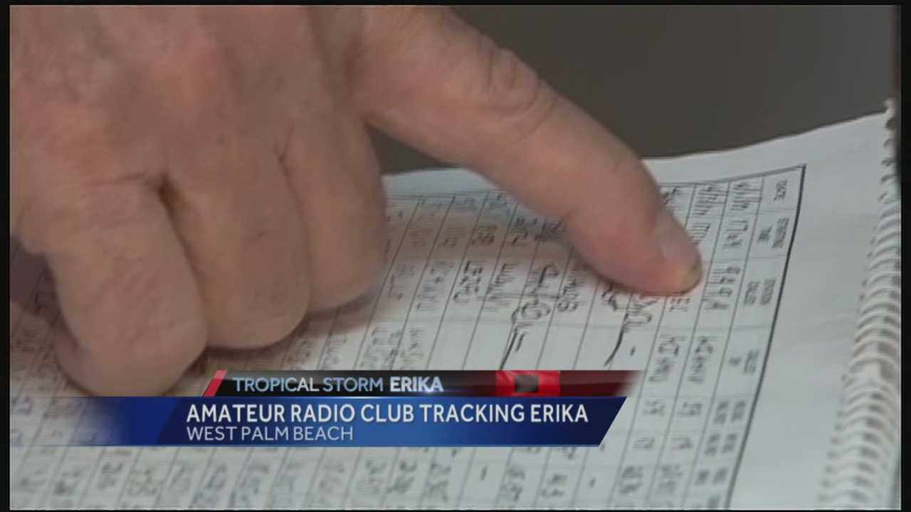 South Florida amateur radio operators are also keeping a close eye on Tropical Storm Erika.