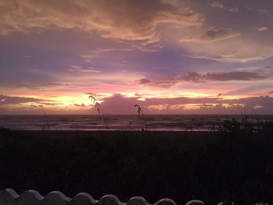 WPBF anchor/reporter Stephanie Berzinski took these beautiful pictures of the sunrise over Palm Beach on Sunday.