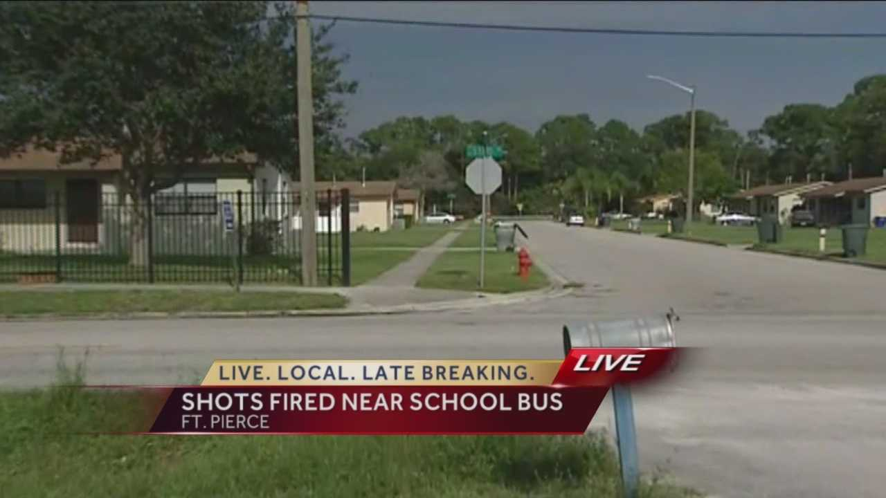 Wednesday afternoon, Fort Pierce police investigated reports of shots fired near the intersection of Hibiscus Avenue. Police say someone fired shots at a 19-year-old man, and a nearby school bus was hit by the stray bullets.