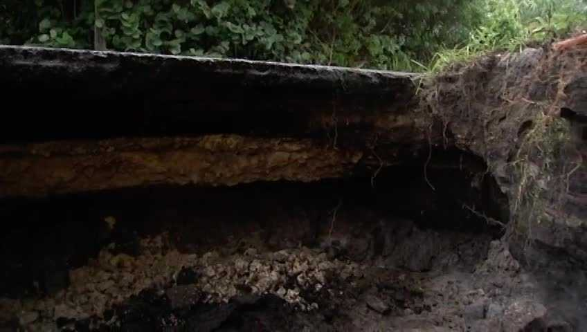 Erosion caused by this week's heavy rain has forced St. Lucie County's Public Works Department to close the southernmost section of Indian River Drive.