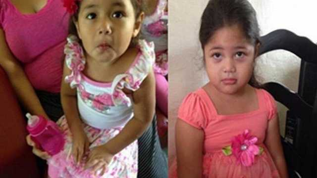 Miami police say Keilyn (left top) and Kristel Martinez (right top) were recovered Wednesday in West Palm Beach.