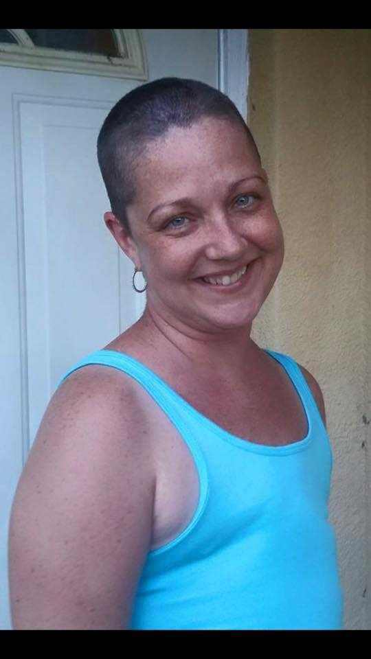 This is my friend Tami. She is a Breast Cancer Survivor of 4 years after having a double mastectomy. She is now battling Stage 4 Brain Cancer. She is the strongest fighter I know. She has the love and support of her friends and family.