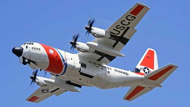 HC-130 on scene searching for missing 737' container ship w/ crew of 33.