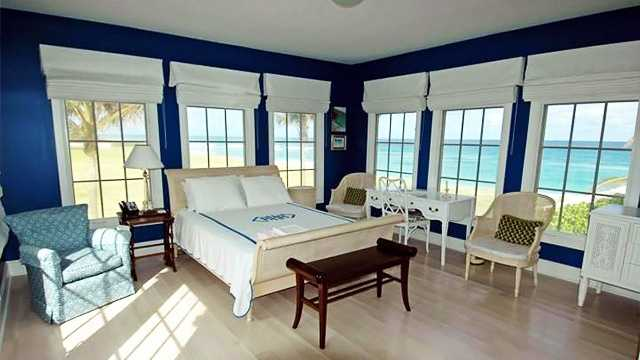 This bedroom might offer the best view in the house! It could serve as an old-fashioned sun room.