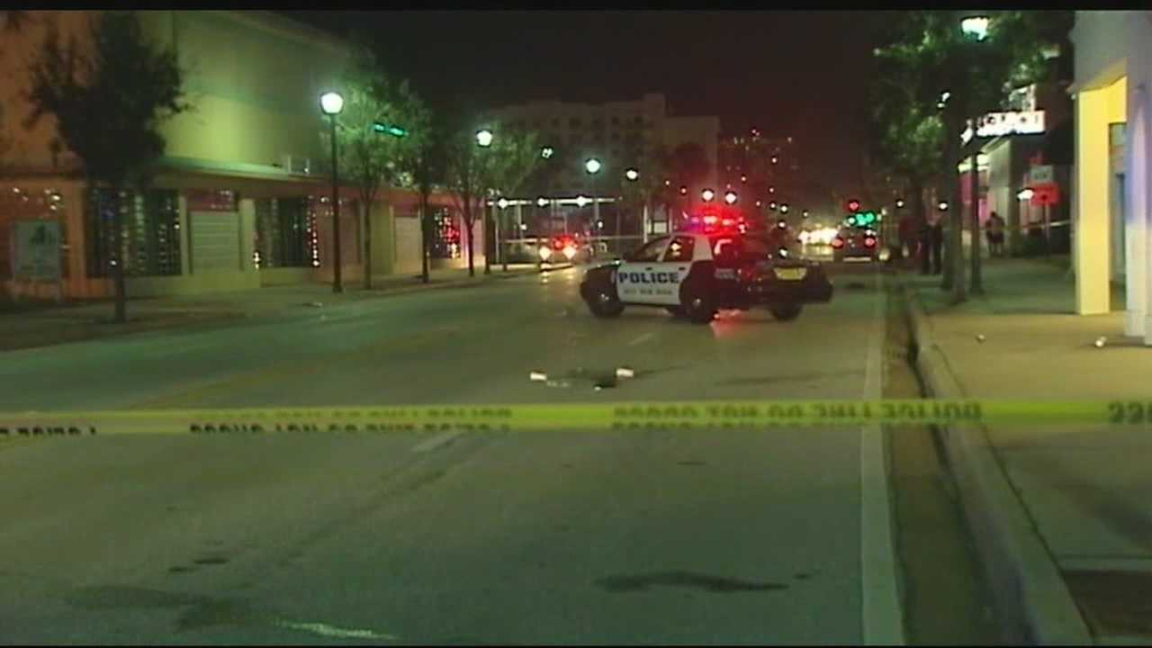 Authorities say a pedestrian was struck and killed by a vehicle traveling southbound on North Dixie Highway and 10th Street in West Palm Beach Tuesday night.