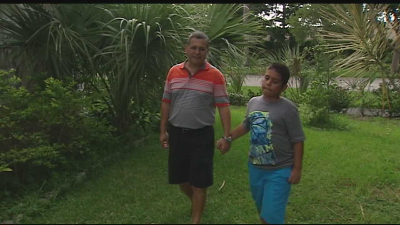 A 10-year-old boy in Lake Worth was shot in the neck with a BB pellet while walking with his father in his front yard. The shooting happened last Thursday and was recorded by the family's security camera.
