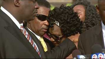 Corey Jones' family embrace as attorney Crump comment on death investigation.