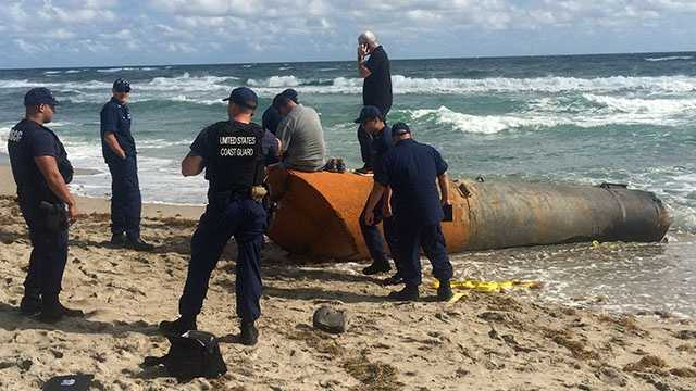 Homeland Security is investigating a large object that washed ashore on Highland Beach. Angela Rozier reports.