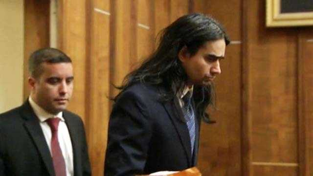 Derek Medina appears in court.
