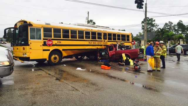 school bus accident reported on northlake boulevard  rh   wpbf