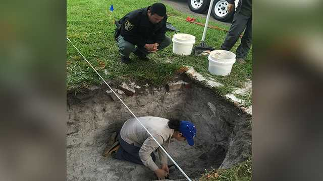 Investigators planned to be back at a Treasure Coast cemetery Tuesday morning to continue trying to exhume an infant as they work to solve a decades-old murder.