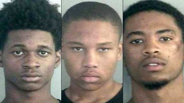 Left: Lashawn Montal, 17. Center: Kelcey Riddick, 17. Right: Justin Allen, 16.