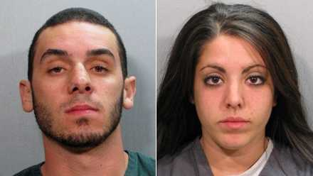 Jacksonville Sheriff's Office booking photos of Jarred Dauth and Maya Manseur