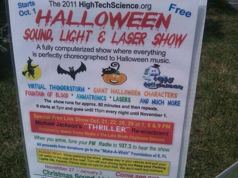 """Deputy City Manager George Brown says Rick Newman's """"Halloween Sound, Light & Laser Show"""" violates zoning regulations."""