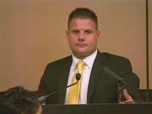 April 2011: Mike Dippolito takes the stand for another day of testimony.