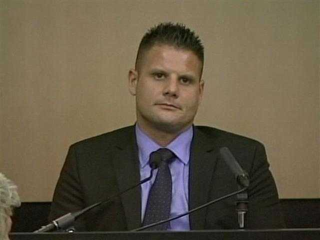 April 2011: Mike Dippolito testifies in court in front of his estranged wife.