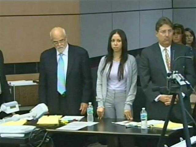 April 2011: Dalia Dippolito stands with her attorneys in court as the jury is led into the courtroom.