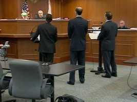 March 2010: Attorneys for Dalia and Mike Dippolito appear at a hearing for the ongoing divorce proceedings.