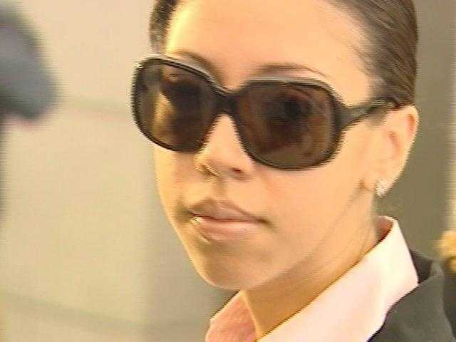 December 2009: Dalia Dippolito stares at news cameras after appearing in court.