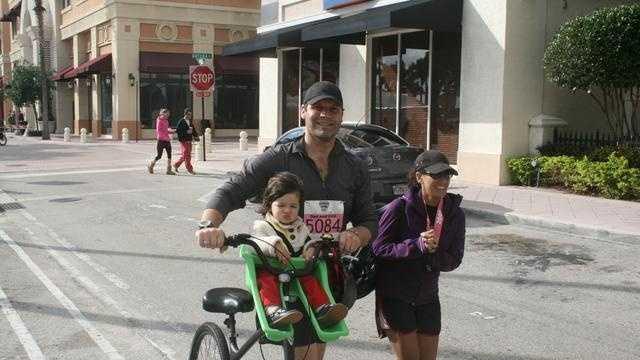 This photograph was taken during a previous Palm Beach Marathon. The marathon will be held again this weekend.