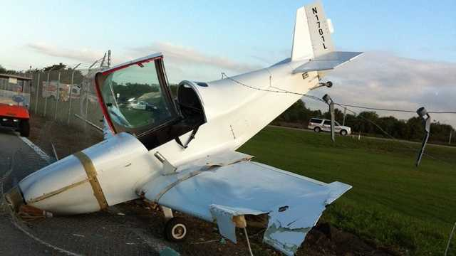 This small plane crash-landed at the Boca Raton Airport, but the pilot was uninjured.