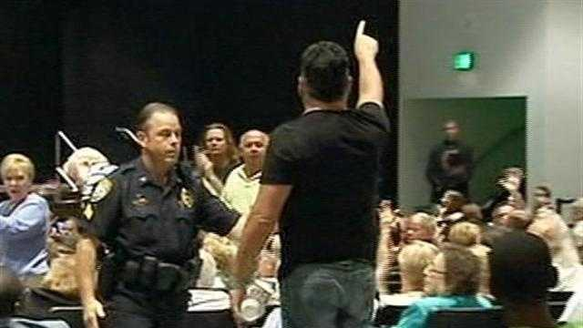There were more emotional displays at Rep. Allen West's town hall meeting.