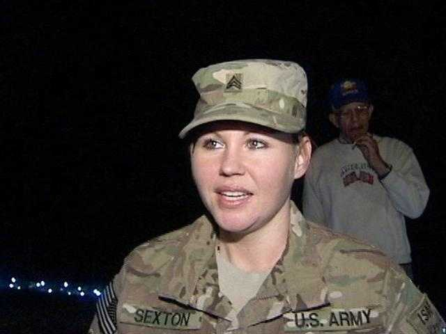 Sgt. Krissy Sexton returned home from Afghanistan to a special surprise from Florida Power & Light.