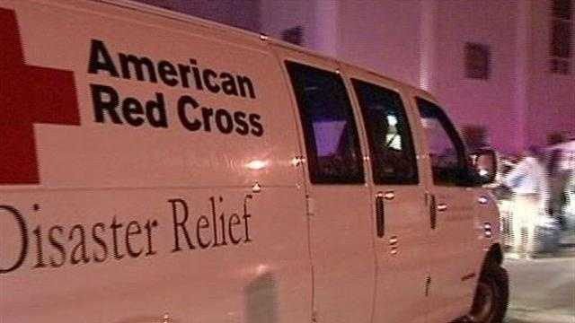 Red Cross Volunteers Help Families