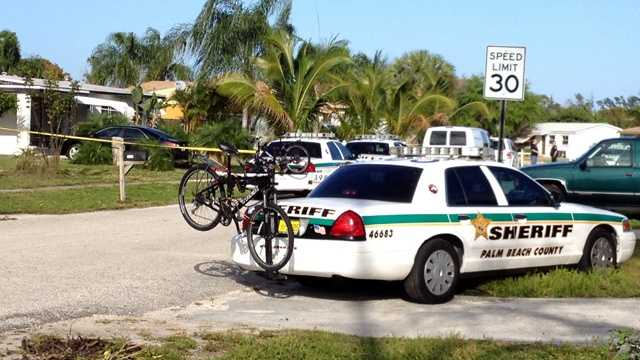 Emergency crews were called Friday afternoon to a home in Lake Worth after a neighbor found two people floating in the pool.
