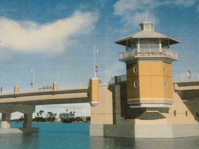This is an artist's rendering of what the new bridge will look like when it opens.