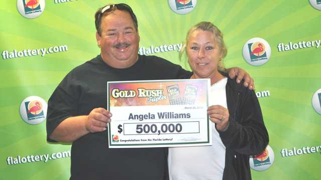 Angela Williams won $500,000 in a Florida Lottery scratch-off game that she played on St. Patrick's Day. (Courtesy of Florida Lottery)