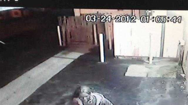 This is a surveillance photograph of one of the victims in Saturday's shooting.