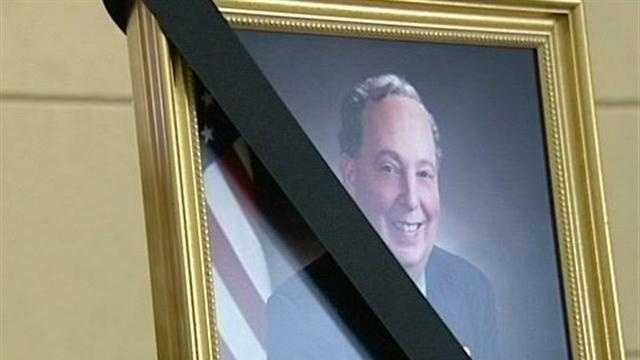 Bill Moss framed photograph after death