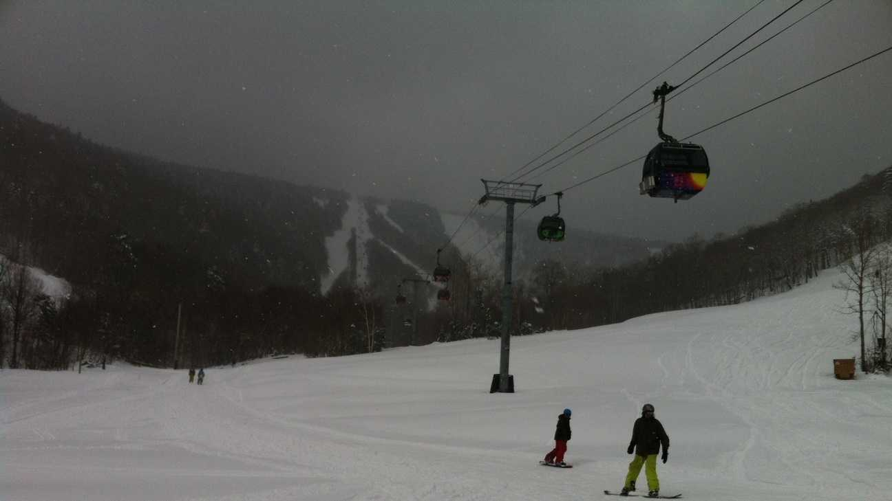 A spring snow drops over 18 inches at Killington.