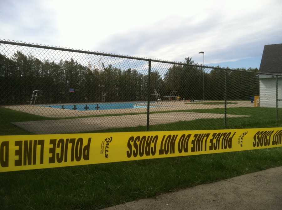 The body of Chris Davis was discovered Monday in the St. Albans city pool. Police are unsure of how he got there and an autopsy report ruled the cause and time of death inconclusive. Investigators combed the area Tuesday, looking for clues in Davis' death.