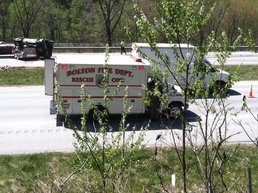 Rescue crews on respond to a secondary accident on I-89 northbound.