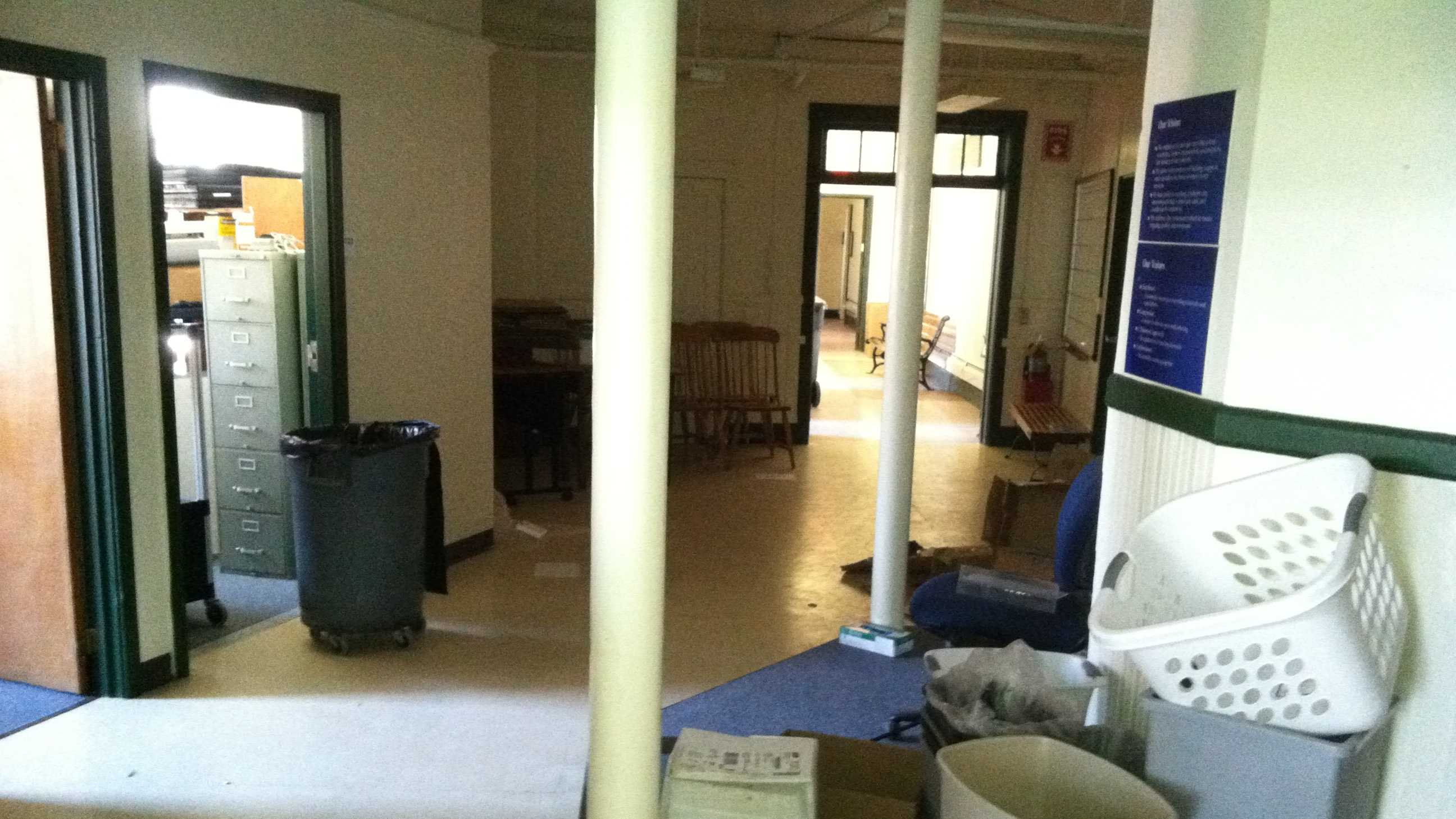 Inside what used to be the Department of Environmental Conservation in Waterbury.
