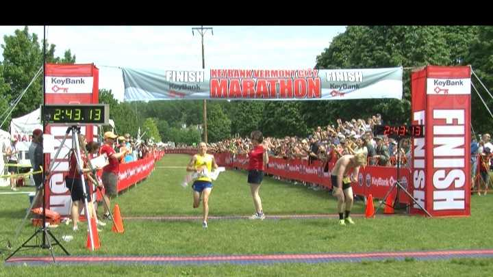 Some estimate 20,000 people were in Burlington to watch the 24th Annual KeyBank Vermont City Marathon -- most of whom witnessed one Vermont woman make Vermont history.