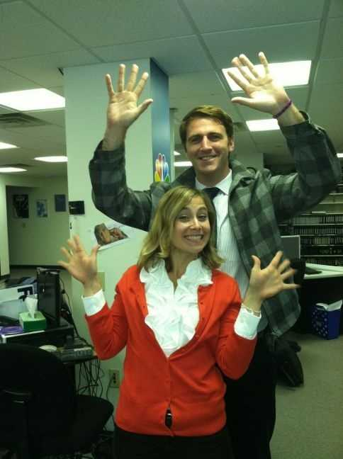 Charlie and Lauren show off their mad jazz hand skills.