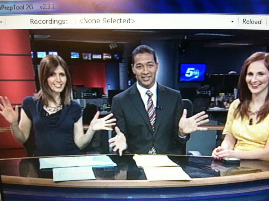 Courtney, Matt and Hayley are spotted jazz handing on NC5 Monday morning!