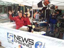George and Stephanie are broadcasting their jazz hands on NewsChannel 5 from Church Street!