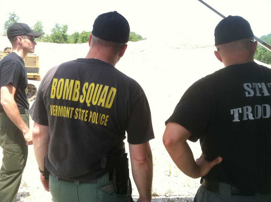 Members of the Vermont State Police Bomb Squad.