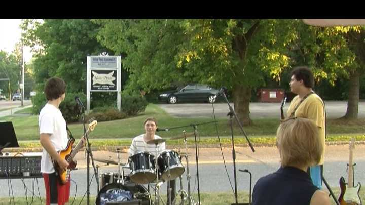 A local eatery books high school bands every summer and Thursday night was the first gig of the season.