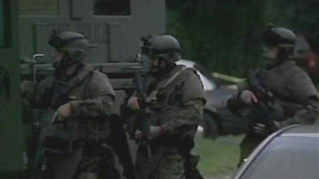 VT State Police Tactical Team Gets Into Position