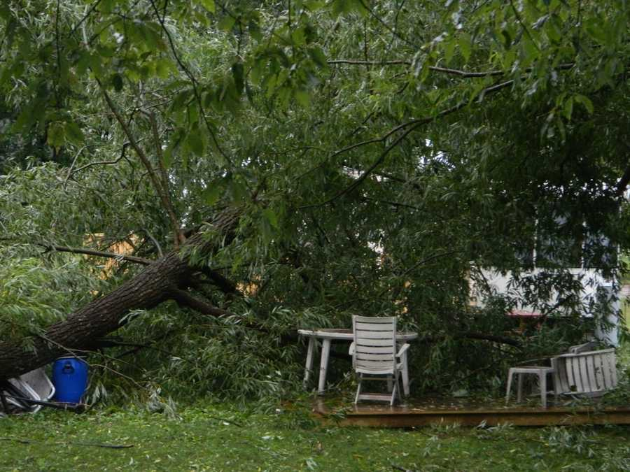Jennifer Rock LaPlante shared this photo a tree down at the Ranchside Campground in Ellenburgh, N.Y.