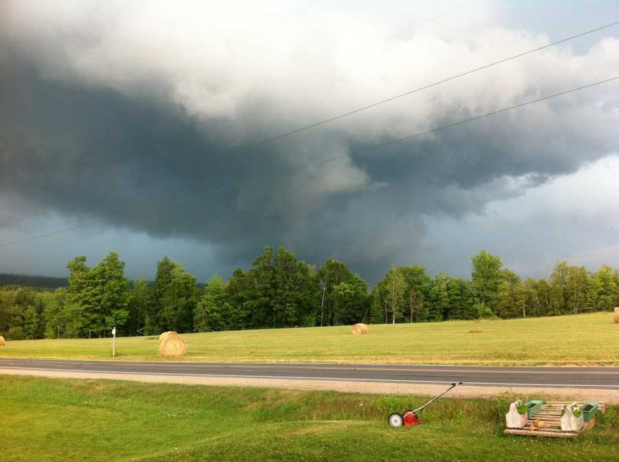 Jerry Furnia shared this photo of an ominous cloud over Schuyler Falls, N.Y.