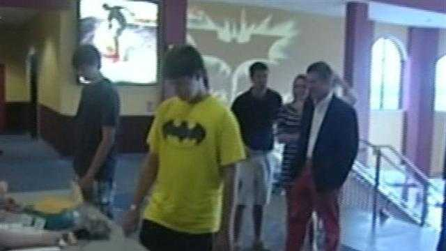 "The new Batman movie -- ""The Dark Knight Rises"" doesn't open nationally for another few days, but some Vermonters got a sneak peek on Sunday night."