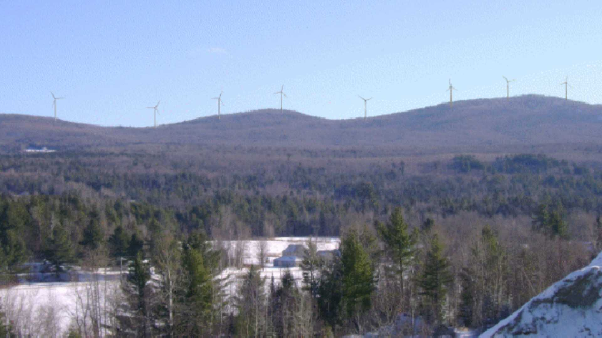 A rendering of the Lowell Wind Project after completion.