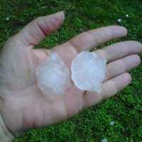 Hail in Waitsfield, Vt.