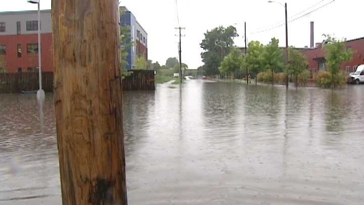 Scientists said flooding -- seen here after Tropical Storm Irene -- could happen more often as temperatures rise.